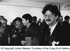 Larry Bell at Marcel Duchamp opening_1963_by Julian Wasser copy